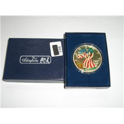2000 Silver Eagle *PAINTED MINT STATE I ORIGINAL BOX*!!