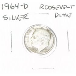1964-D ROOSEVELT SILVER DIME *PLEASE LOOK AT PICTURE TO DETERMINE GRADE*!!