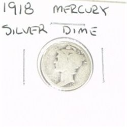 1918 MERCURY SILVER DIME KEY DATE *RARE PLEASE LOOK AT PICTURE TO DETERMINE GRADE*!!