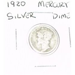 1920 MERCURY SILVER DIME KEY DATE *RARE PLEASE LOOK AT PICTURE TO DETERMINE GRADE*!!