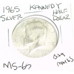 1965 KENNEDY SILVER HALF DOLLAR *EXTREMELY RARE MS-65 HIGH GRADE* Bag Marks!!
