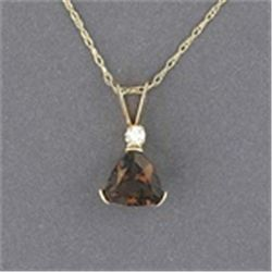 Smoky Topaz 10K Gold Necklace