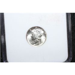 1938-D Mercury Dime; NGC Graded MS65