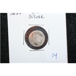 1853 Three Cent Silver Piece