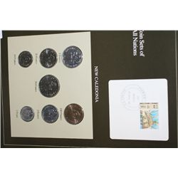 New Caledonia; Coin Sets of All Nations w/Postal Stamp Dated 1986