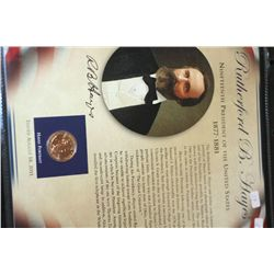 2011 US Presidential Rutherford B. Hayes-19th President $1 Coin