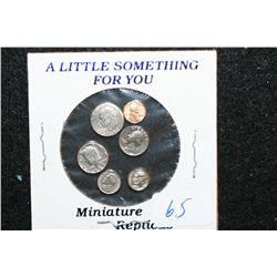 A Little Something For You; US Replica Miniature Coins; Lot of 6