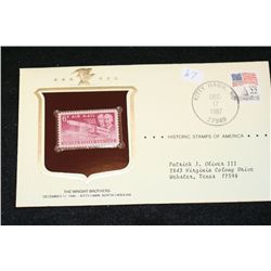 1987 Historic Stamps of America; The Wright Brothers December 17, 1949 Kitty Hawk NC
