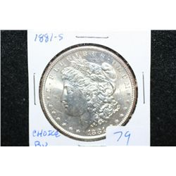 1881-S Silver Morgan $1; Choice BU