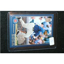 2001 MLB Topps Sammy Sosa-Chicago Cubs Opening Day 2001 Baseball Trading Card