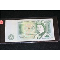 England One Pound Foreign Bank Note