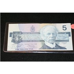 1986 Canada $5 Foreign Bank Note