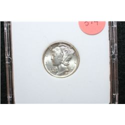 1943 Mercury Dime; MCPCG Graded MS65