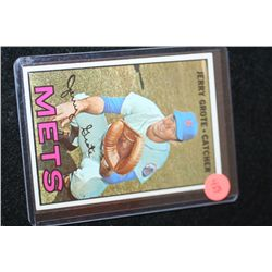 1967 MLB T.C.G. Jerry Grote-New York Mets Baseball Trading Card