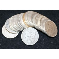 Silver Morgan & Peace $1; Various Dates & Conditions; Lot of 20