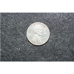 1943-D Zinc Coated Steel Wheat Back Penny