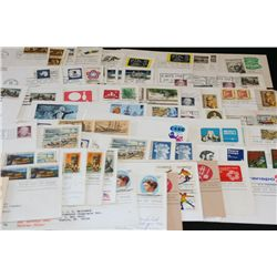 1971-1978 First Day Issue Postal Stamps; Various People & Events; Lot of 100