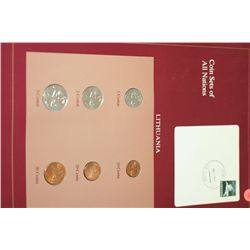 Lithuania; Coin Sets of All Nations W/Postal Stamp Dated 1996
