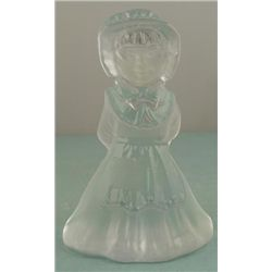 Viking Glass Dutch Girl Vintage Figurine Sculpture