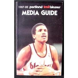 1987 Portland Trail Blazers Media Guide Basketball