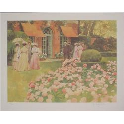 Impressionist TEA PARTY Signed LE Art Print Burdzinski