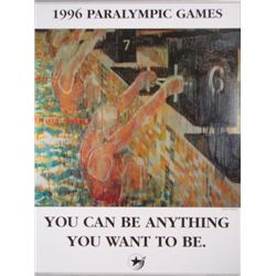 Inspiration 1996 Paralympics YOU CAN BE ANYTHING Poster