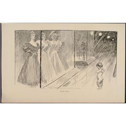Charles Gibson Girl Orig Book Print 1896 FOOLED AGAIN