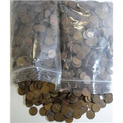 2500 UNSEARCHED WHEAT CENTS 1958 AND OLDER