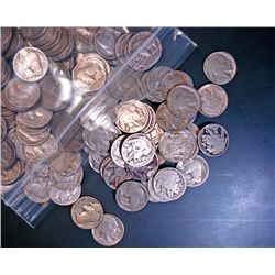 500 UNSEARCED PARTIAL DATE BUFFALO NICKELS