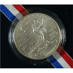 1991 KOREAN WAR MEMORIAL UNCIRCULATED COMMEM. SILVER DOLLAR