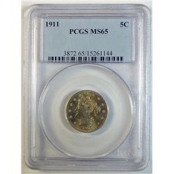 1911 LIBERTY NICKEL PCGS MS-65 GEM!