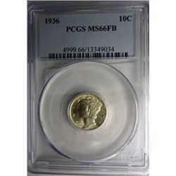 1936 MERCURY DIME PCGS MS66FB CHERRY!