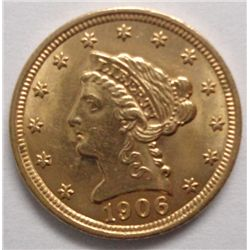 1906 $ 2 1/2 Gold, Ch Bu 64, a high end beauty!