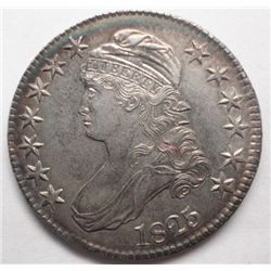 1825 BUST HALF $, CHOICE BU62 OR FINER, WELL STRUCK, BEAUTIFUL LUSTER  LT PATINA