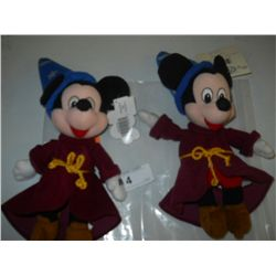 Pair of Mickey Sorcerer Bean Bag