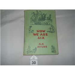 "Now We are Six 1950 A.A Milne Approx size 5 1/2""x7 1/2"""