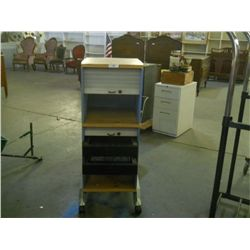 "Roll Away Cabinets approx 16 1/2"" x 17 1/2"" H 45 1/2"""
