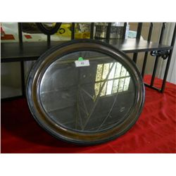 Wood Frame Oval Mirror 23 x18 
