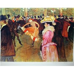 Limited Edition Lautrec- At The Moulin Rouge II - Collection Domaine Lautrec