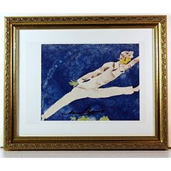 Lithograph by artist Marc Chagall