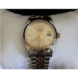 FANCY AUTHENTIC TWO TONE DATE JUST ROLEX