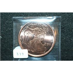 2012 Copper Round; .999 Fine Copper 1 Oz.