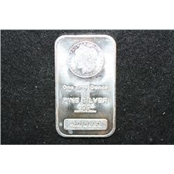 Silver Ingot; 999+ Fine Silver 1 Oz.; Made in USA