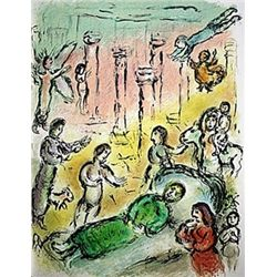 Ulysses' Bed by Chagall from the Odyssey Suite.