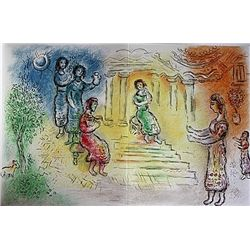 Ulysses at Alcinous' Palace by Chagall from the Odyssey Suite.