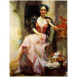 Pino  on Canvas - Country Girl- Limited Edition