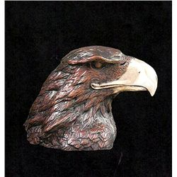 Bronze Sculpture - Eaglehead by H. Scott