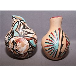 TWO JEMEZ POTTERY VASES