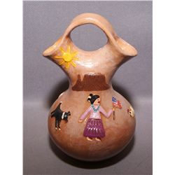 NAVAJO POTTERY WEDDING VASE