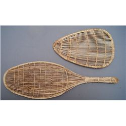 TWO NORTHERN CALIFORNIA BASKETRY sifters